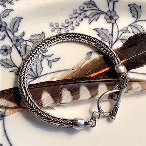 Sterling Silver Foxtail Weave Bracelet